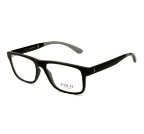 Polo Ralph Lauren PH2182 - Preto Fosco/Cinza 5523 56mm - Óculos de Grau
