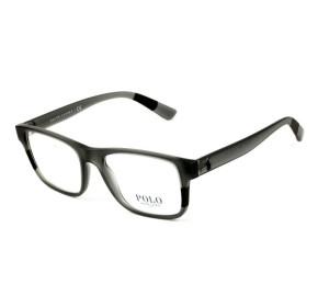 Polo Ralph Lauren PH2192 - Cinza Translúcido 5696 55mm - Óculos de Grau