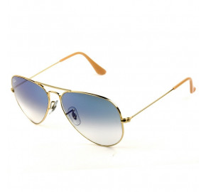 Ray Ban Aviador RB3025L - Dourado/Azul Degradê 001/3F 58mm - Óculos de Sol