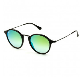Ray Ban Round Fleck RB2447 - Preto/Verde Espelhado 901/4J 49mm - Óculos de Sol