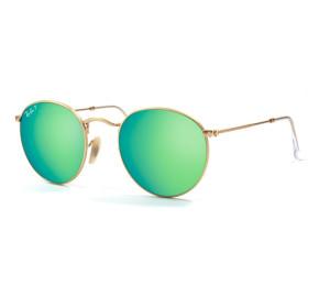 Ray Ban Round Metal RB3447 - Dourado/Verde Espelhado 112/P9 50mm - Óculos de Sol