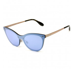 Ray Ban Blaze Cat Eye RB3580-N - Dourado/Azul Semi-Espelhado 9039/1U 43mm - Óculos de Sol