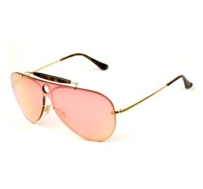 Ray Ban Blaze Shooter RB3581-N - Dourado/Rose Semi-Espelhado 001/E4 32mm - Óculos de Sol