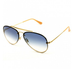 Ray Ban Blaze Aviador RB3584-N Dourado/Azul Degradê 001/19 61mm - Óculos de Sol