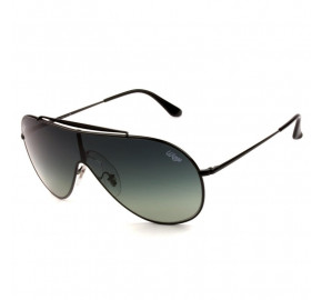 Ray Ban Wings RB3597 - Preto/Cinza Degradê 002/11 33mm - Óculos de Sol