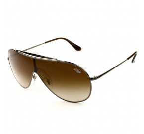 Ray Ban Wings RB3597 - Prata/Marrom Degradê 004/13 33mm - Óculos de Sol
