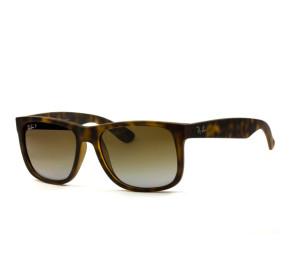 Ray Ban Justin RB4165 - Turtle/Marrom Degradê Polarizado 865/T5 55mm - Óculos de Sol