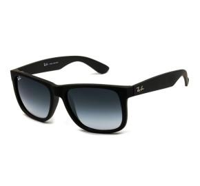 Ray Ban Justin RB4165L - Preto Fosco/Cinza Degradê 601/8G 57mm - Óculos de Sol