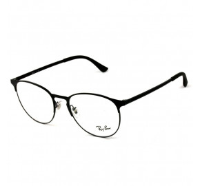 Ray Ban Round RB6375 - Preto Fosco 2944 53mm - Óculos de Grau