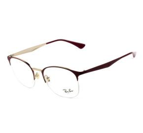 Ray Ban RB6422 -  Vinho/Dourado 3007 51mm - Óculos de Grau