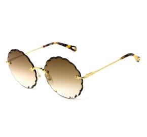 Chloé Rosie CE 142S Dourado/Marrom Degradê 742 60mm - Óculos de Sol