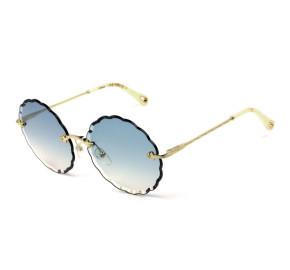 Chloé Rosie CE 142S Dourado/Azul Degradê 816 60mm - Óculos de Sol