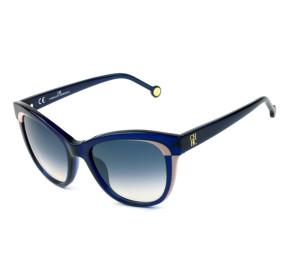 Óculos Carolina Herrera SHE 787 - Azul Translúcido 0AGQ 52mm - Óculos de Sol
