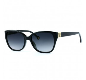 Carolina Herrera SHE566 - Preto/Cinza Degradê 0700 56mm - Óculos de Sol