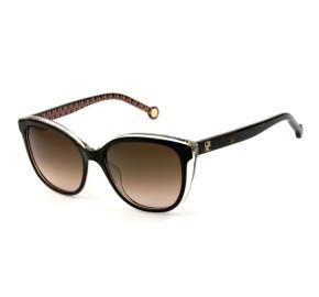 Óculos Carolina Herrera SHE694 - Turtle/Marrom Degradê COL.09W2 54mm - Óculos de Sol