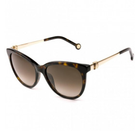 Óculos Carolina Herrera SHE750 - Turtle/Marrom Degradê 0722 54mm - Óculos de Sol