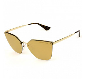 Prada SPR 68T - Dourado Espelhado Polarizado ZVN-5N2 63mm - Óculos de Sol