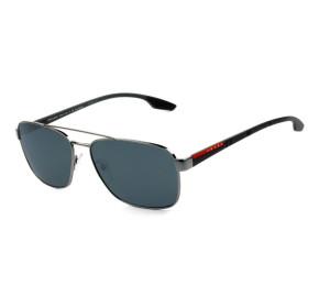 Óculos Prada SPS 51U - Prata/Cinza Polarizado 5AV-5Z1 62mm - Óculos de Sol