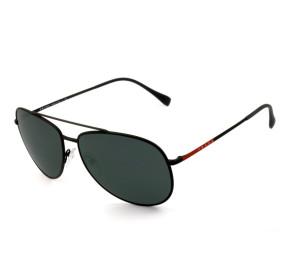 Prada SPS 55U - Preto Fosco/Cinza DGO-5S0 61mm - Óculos de Sol