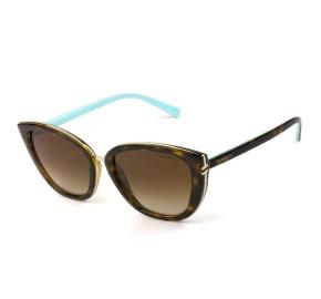Tiffany & Co TF 4152 - Óculos de Sol Turtle/Marrom Degradê 8015/3B Lentes 55MM