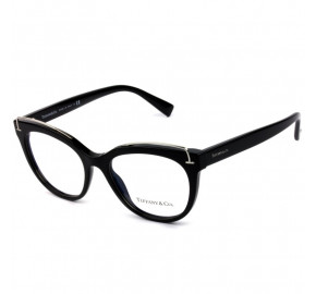 Tiffany & Co TF2166 - Óculos de Grau 8001 Preto e Prata Lentes 51mm
