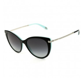 Tiffany & Co TF4143-B - Óculos de Sol Preto Degradê  8055/3C Lentes 55MM