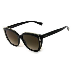 Tiffany & Co TF4148 - Óculos de Sol 8001/3B Preto e Dourado/Marrom Degradê Lentes 54mm