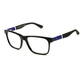 Tommy Hilfiger TH1282 - Preto Brilho/Azul FMV 52mm - Óculos de Grau