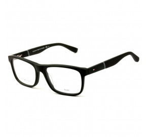 Tommy Hilfiger TH1282 - Preto Fosco KUN 52mm - Óculos de Grau