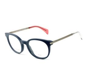 Tommy Hilfiger TH1380 - Azul/Prata QEF 48mm - Óculos de Grau