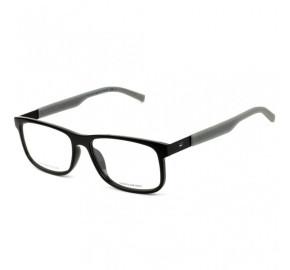 Tommy Hilfiger TH1446 - Preto Brilho/Cinza L7A 55mm - Óculos de Grau