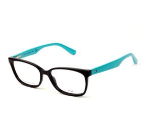 Tommy Hilfiger TH1492 - Preto/Azul Claro PJP 53mm - Óculos de Grau