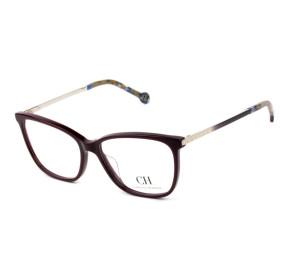 Carolina Herrera VHE 758 -  Vinho 09FD Vinho 54mm - Óculos de Grau