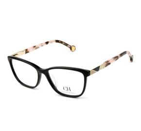Óculos Carolina Herrera VHE 761 - Preto/Mesclado 700Y 53mm - Óculos de Grau