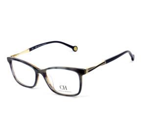 Óculos Carolina Herrera VHE 781 - Azul/Mesclado/Dourado 0ACE 53mm - Óculos de Grau