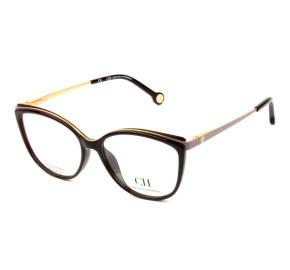 Carolina Herrera VHE 783 - Marrom Degradê/Dourado 09D2 53mm - Óculos de Grau