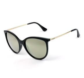 Vogue VO 5221-SL - Preto/Dourado Espelhado W44/5A 55mm - Óculos de Sol