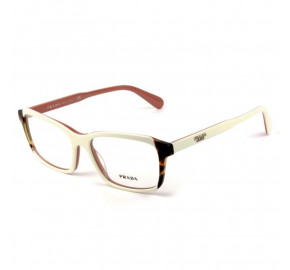 Prada VPR 01V - Branco/Turtle/Rosa 0R9-1O1 55mm - Óculos de Grau