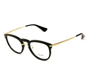 Prada VPR 02V - Preto/Dourado 1AB-1O1 51mm - Óculos de Grau