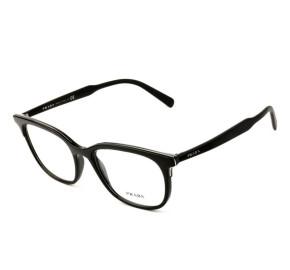 Prada VPR 05V - Preto/Prata 264-1O1 55mm - Óculos de Grau