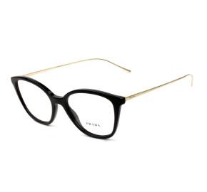 Prada VPR 11V - Preto/Dourado 1AB-1O1 51mm - Óculos de Grau
