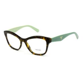 Prada VPR 29R - Turtle/Verde 2AU -1O1 54mm - Óculos de Grau
