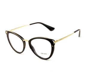Prada VPR 53U - Preto/Dourado 1AB-1O1 52mm - Óculos de Grau