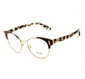 Óculos Prada VPR 61T - Turtle/Vinho/Dourado VAX-1O1 52mm - Óculos de Grau