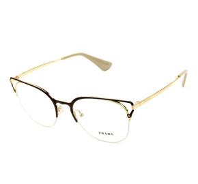 Óculos Prada VPR 64U - Preto/Dourado 98R-1O1 53mm - Óculos de Grau