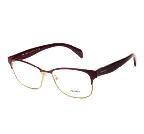 Óculos Prada VPR 65R - Vinho/Dourado UAN-1O1 55mm - Óculos de Grau