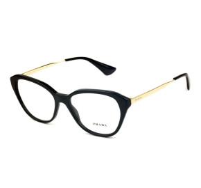 Prada VPR28S - Preto/Dourado 1AB-1O1 54mm - Óculos de Grau