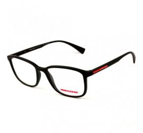 Prada VPS04I - Preto/Vermelho DG0-1O1 55mm - Óculos de Grau