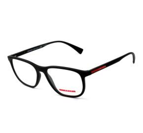 Prada VPS 05L - Preto Fosco/Vermelho DG0-1O1 55mm - Óculos de Grau