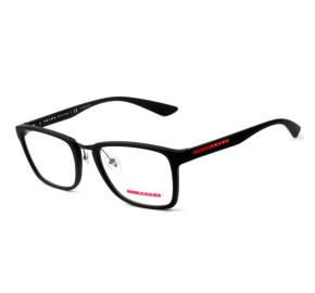 Prada VPS 06L - Preto Fosco/Vermelho DGO-1O1 55mm - Óculos de Grau